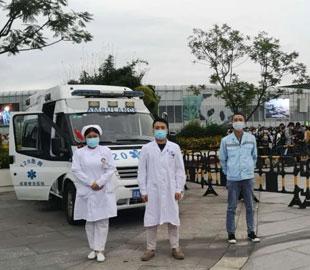 国庆期间,我院为成都熊猫基地景区游客提供免费医疗保障服务
